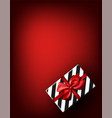 red new year background with gift vector image vector image