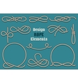 rope design elements vector image vector image