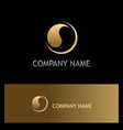 round abstract loop gold logo vector image vector image