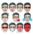 set emoji emotions men vector image vector image