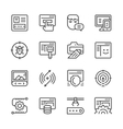 Set line icons of web development vector image vector image