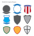 Shield and Insignia Shapes vector image vector image