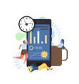 sleep app flat style design vector image vector image