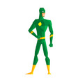 superhero wearing green suite vector image vector image