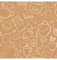 Tea and sweets seamless pattern vector image vector image