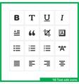 Text edit icon set vector image