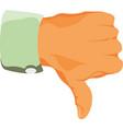Thumbs down or dislike hand