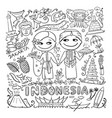 travel to indonesia coloring card for your design vector image vector image