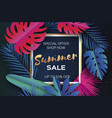 trendy summer sale template banner paper cut art vector image