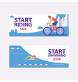 triathlon track start vector image vector image