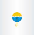 umbrella icon symbol logo vector image