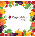 vegetables frame for your designs vector image vector image