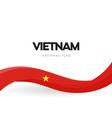 vietman flag wavy ribbon with colors vector image vector image