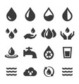 water icon set related eco vector image vector image