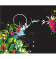 watercolor floral background with splash vector image vector image
