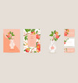 wedding invitation apple card vintage vector image