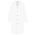 White medical uniform vector image vector image