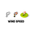 Wind speed icon in different style vector image vector image