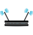 Wireless Wi-Fi router on white background vector image vector image