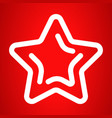 xmas star icon outline style vector image vector image