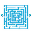creative of labyrinth maze vector image