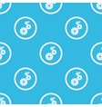 Settings sign blue pattern vector image