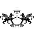 Griffin sword vector image