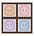 Old stamps vector image
