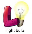 A letter L for lightbulb vector image vector image
