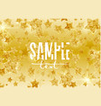 abstract gold stars vector image vector image