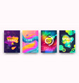 abstract gradient poster vibrant colors and fluid vector image vector image