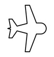 aircraft thin line icon plane vector image