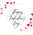 background with hearts and happy valentines day vector image vector image
