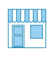Barbershop building front icon vector image