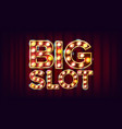 big slot banner casino lamp background vector image vector image