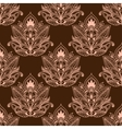 Brown persian paisley seamless floral pattern vector image vector image