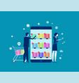 business person buy online shop concept vector image