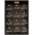 calendar template for 2015 in retro style vector image