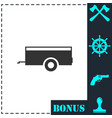 car trailer icon flat vector image vector image