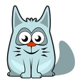 cartoon cat on white background vector image