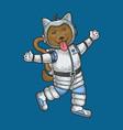 cartoon puppy dog astronaut sketch vector image vector image