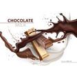 Chocolate bar caramel realistic mock up