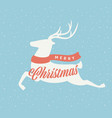 christmas deer sign vector image vector image