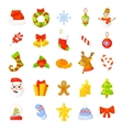 Christmas Icon Set Collection cartoon New vector image vector image