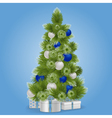 Christmas Snowy Tree vector image vector image
