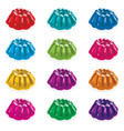 colorful gelatin jelly assortment vector image