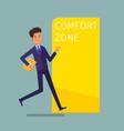 concept comfort zone vector image vector image