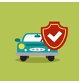 concept of auto loan in flat design vector image vector image