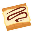 cookies or biscuit with creamy chocolate topping vector image vector image
