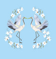 crane a bird in flight design element vector image vector image